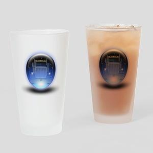 Trucker's Crystalball Pint Glass