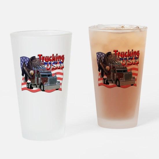 Trucking USA Pint Glass
