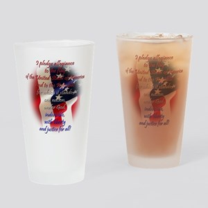 Pledge of allegiance Pint Glass
