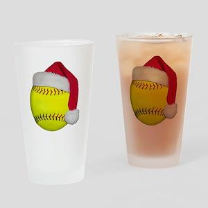 Softball Santa Pint Glass
