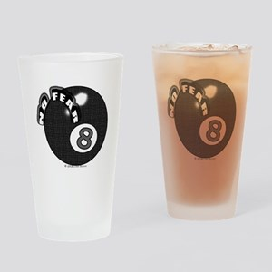 No Fear 8 Ball Drinking Glass