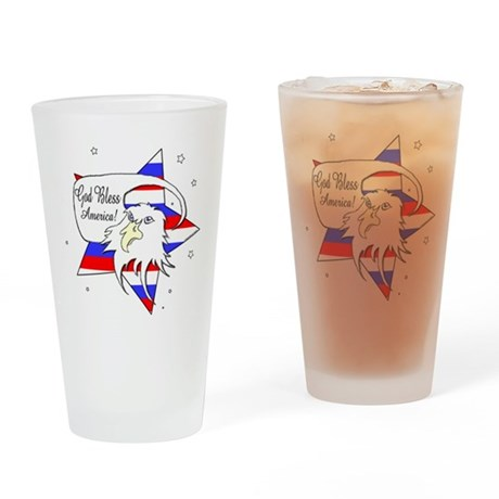 American Eagle Christian Drinking Glass