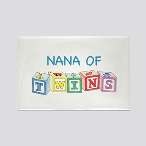 Nana of Twins Blocks Rectangle Magnet