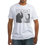 Gorilla Sign Language (no text) Fitted T-Shirt