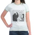 Gorilla Sign Language (no text) Jr. Ringer T-Shirt