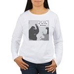 Gorilla Sign Language (no text) Women's Long Sleev