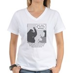 Gorilla Sign Language Women's V-Neck T-Shirt