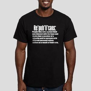 Re'pub'li'cans: Men's Fitted T-Shirt (dark)