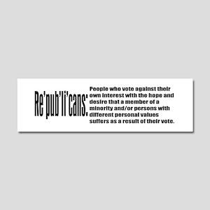 Re'pub'li'cans: Car Magnet 10 x 3