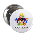 "Pool Queen 2.25"" Button (10 pack)"