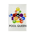 Pool Queen Rectangle Magnet (100 pack)