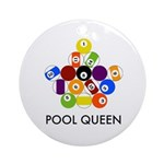 Pool Queen Ornament (Round)