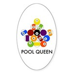 Pool Queen Oval Sticker