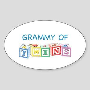 Grammy of Twins Oval Sticker