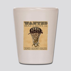 Lacrosse Wanted II Shot Glass