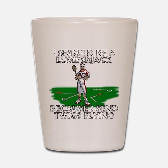 Lacrosse Lumberjack Shot Glass