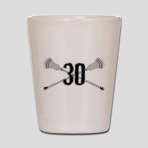 Lacrosse Number 30 Shot Glass