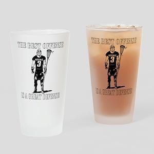 Lacrosse Defense Best Offense Drinking Glass