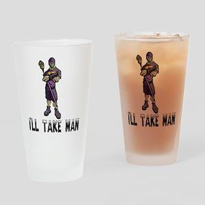 Lacrosse IllTakeMan Pint Glass