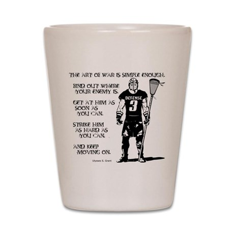 Lacrosse USG Quote 2 Shot Glass