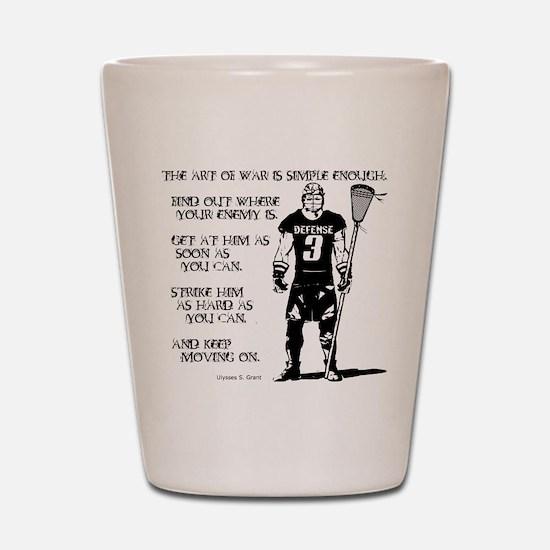 Lacrosse USG Quote 2 Shot Glass