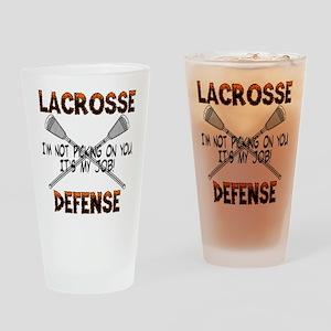 Lacrosse Defense Pint Glass
