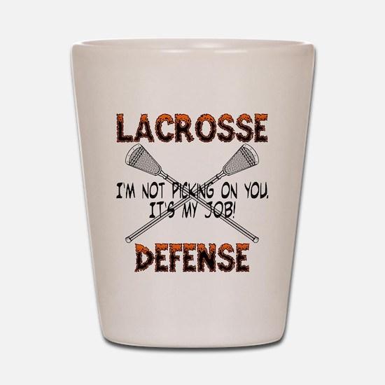 Lacrosse Defense Shot Glass