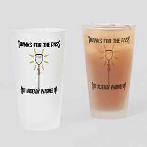 Lacrosse Goalie PAss Pint Glass