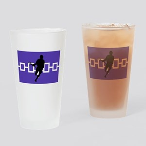 Lacrosse Iroquois Nation Pint Glass