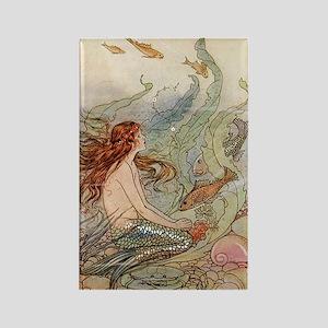 mermaid lass Rectangle Magnet