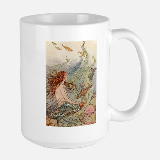 mermaid lass Large Mug
