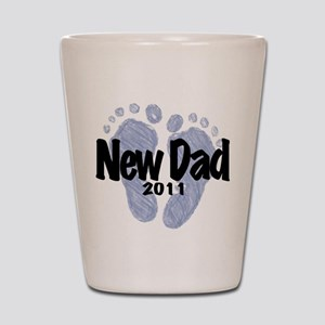 New Dad 2011 (Boy) Shot Glass
