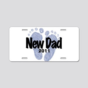 New Dad 2011 (Boy) Aluminum License Plate