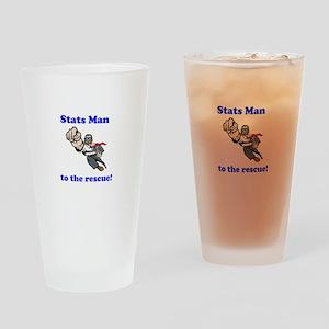 Stats Man Pint Glass