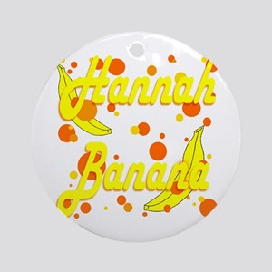 Hannah Banana Ornament (Round)