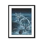 Star Leopard Framed Panel Print