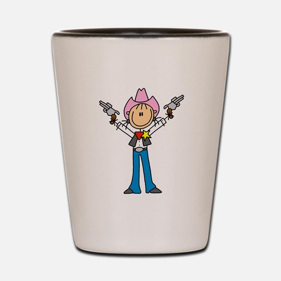 Girl Sheriff Shot Glass