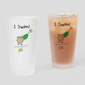 Girl I Swim Pint Glass