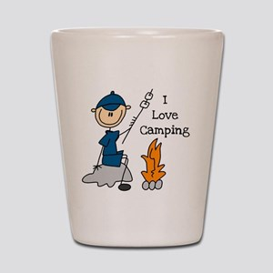 I Love Camping Shot Glass