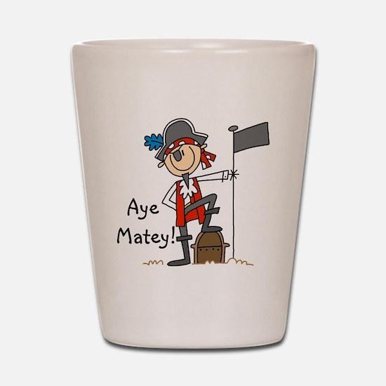 Aye Matey Pirate Shot Glass
