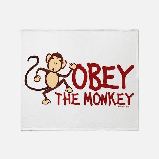 Obey The Monkey Throw Blanket