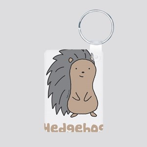 Hedgehog Aluminum Photo Keychain