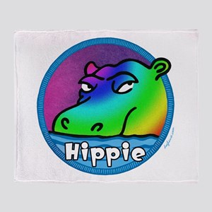 Hippie (Hippo) Throw Blanket