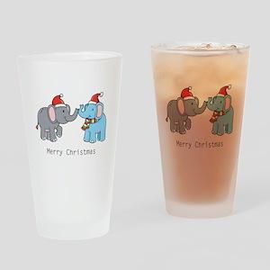 Elephant Christmas Pint Glass