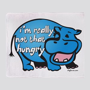 Not Hungry Hippo Throw Blanket