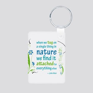 Nature Atttachment Aluminum Photo Keychain