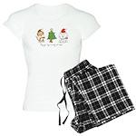 Cat and Dog Christmas Women's Light Pajamas