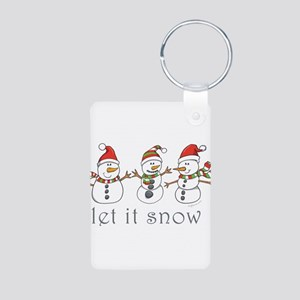 Let It Snow Aluminum Photo Keychain