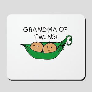 Grandma of Twins Pod Mousepad