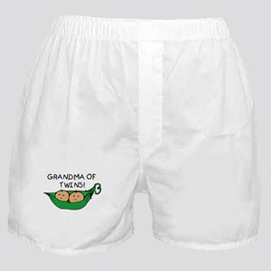 Grandma of Twins Pod Boxer Shorts